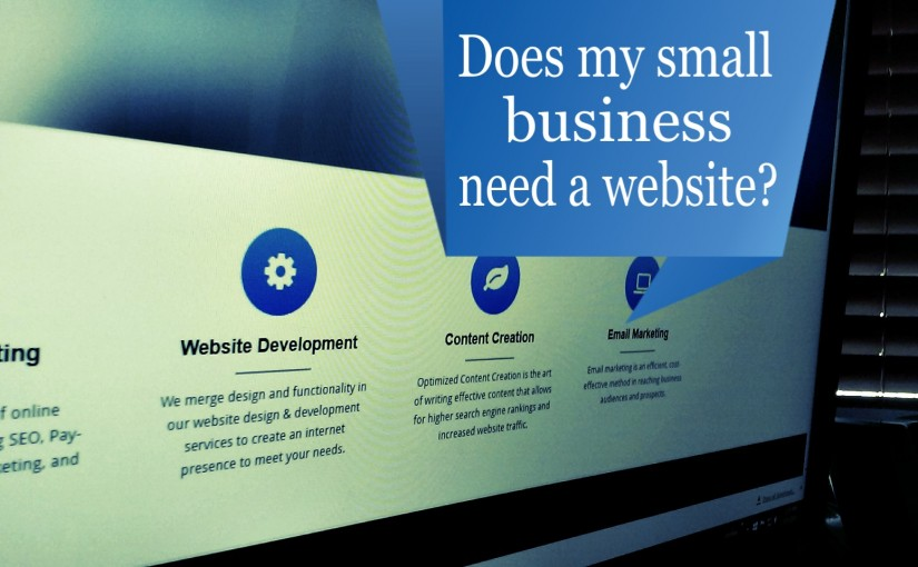 Does my small business need a website?
