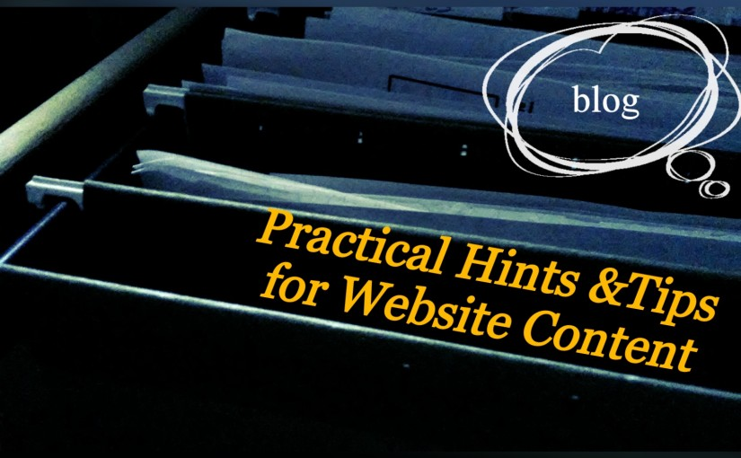 Practical Hints and Tips for Website Content