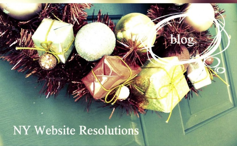 New Year Resolutions Reinvented for a Modern Website